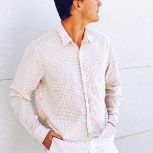 J.Crew Men's Snub Cotton Gingham Shirt